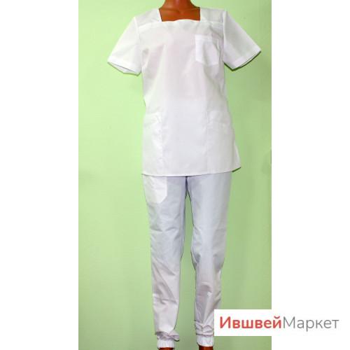 Костюм медицинский женский М-129, белый