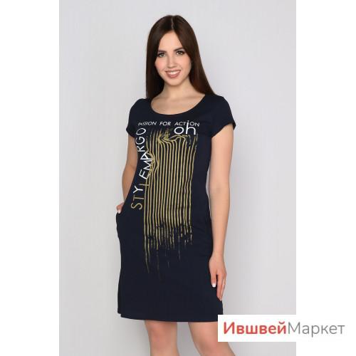Платье женское, трикотажное, кулирка