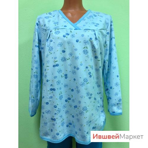 Блуза пижамная, футер, арт. 1