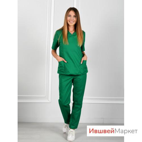 Костюм медицинский хирурга М-130, зеленый