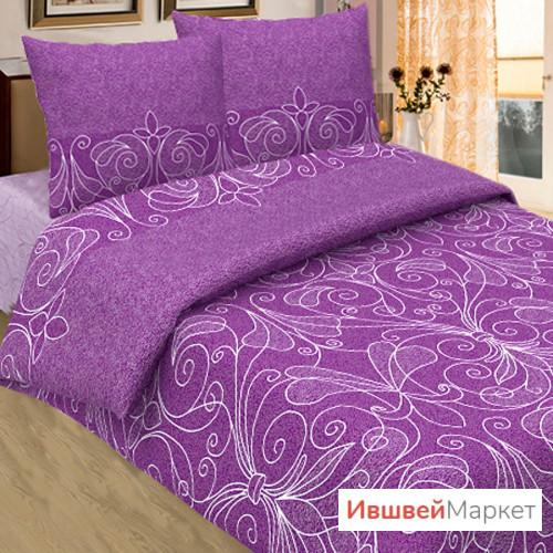 """Постельное белье бязь """"Жемчуг"""", фиолетовый"""